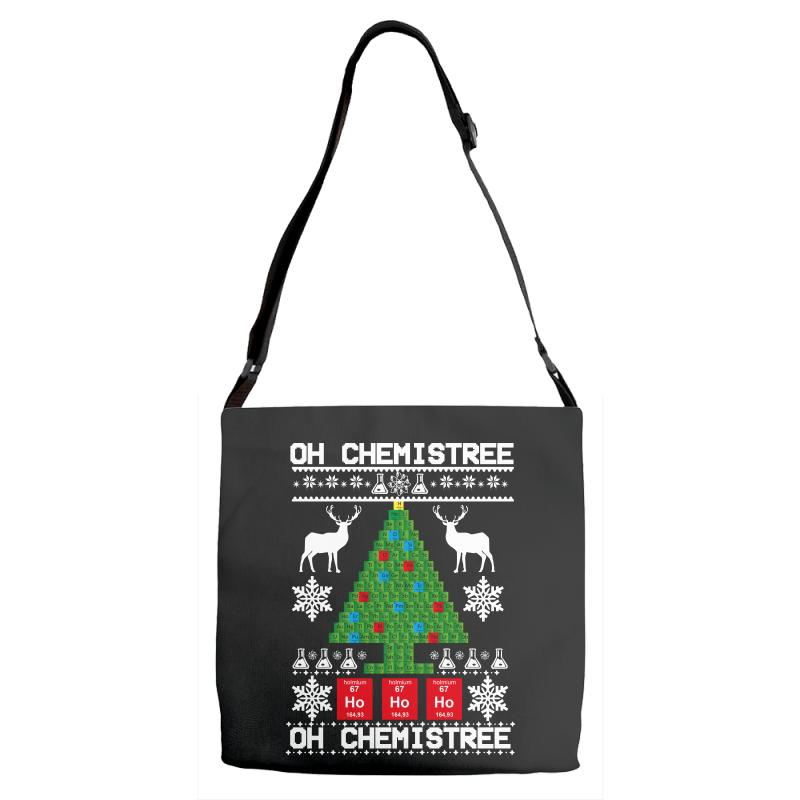 Chemist Element Oh Chemistree Christmas Sweater Adjustable Strap Totes | Artistshot