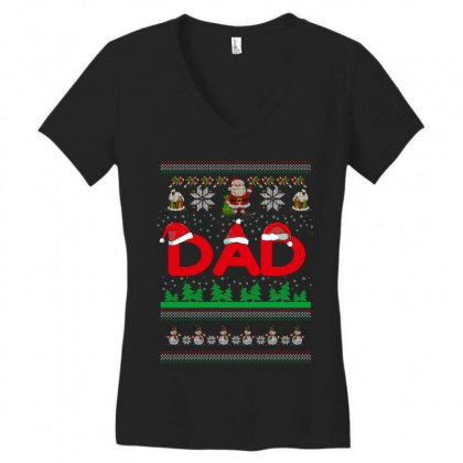 Dad Women's V-neck T-shirt Designed By Wizarts