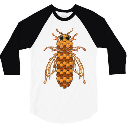 Honey Bee Ii 3/4 Sleeve Shirt Designed By Wizarts