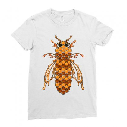 Honey Bee Ii Ladies Fitted T-shirt Designed By Wizarts