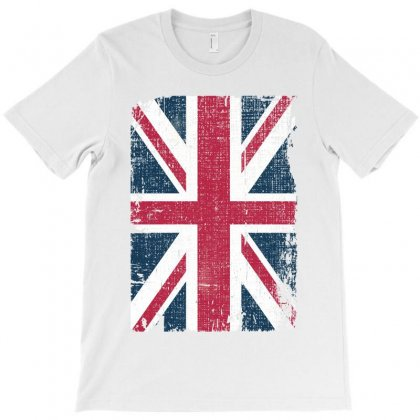 Britain Grunge Flag T-shirt Designed By Sengul