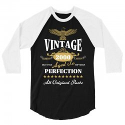 vintage 2000 aged to perfection limited edition 3/4 Sleeve Shirt | Artistshot