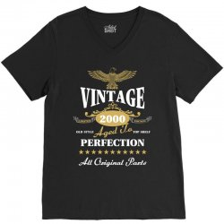vintage 2000 aged to perfection limited edition V-Neck Tee | Artistshot