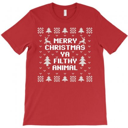 Merry Christmas Ya Filthy Animal T-shirt Designed By Hot Design