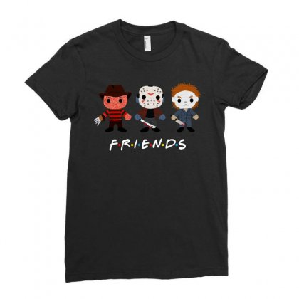 Horror Friends Ladies Fitted T-shirt Designed By Sengul