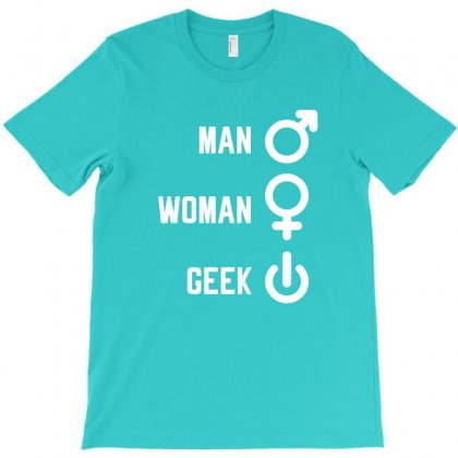 Man Woman Geek Gift T-shirt Designed By Cidolopez