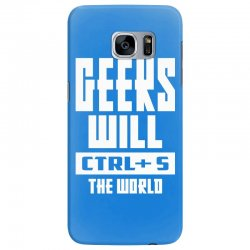 Geeks Will CTRL + S The World Samsung Galaxy S7 Edge Case | Artistshot