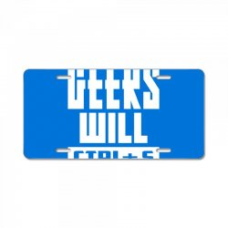Geeks Will CTRL + S The World License Plate | Artistshot