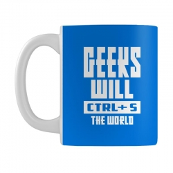Geeks Will CTRL + S The World Mug | Artistshot