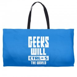 Geeks Will CTRL + S The World Weekender Totes | Artistshot