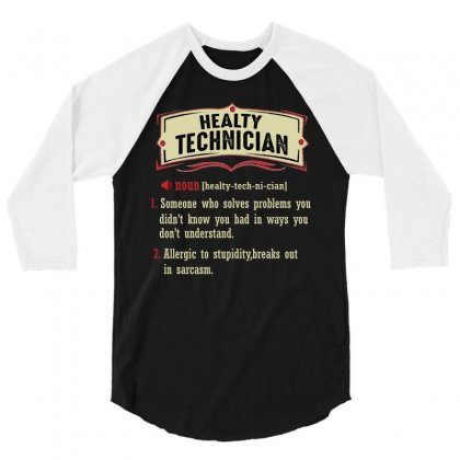 Health Technician Dictionary Term Sarcastic 3/4 Sleeve Shirt Designed By Wizarts