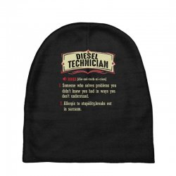 diesel technician dictionary term sarcastic Baby Beanies | Artistshot