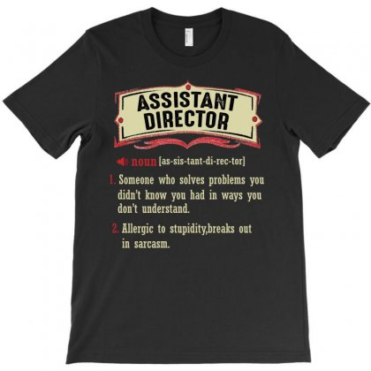 Assistant Director Dictionary Term Sarcastic T-shirt Designed By Wizarts