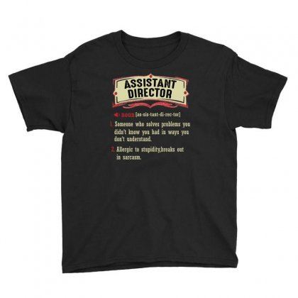 Assistant Director Dictionary Term Sarcastic Youth Tee Designed By Wizarts