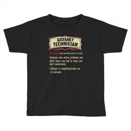 Assembly Technician Dictionary Term Sarcastic Toddler T-shirt Designed By Wizarts