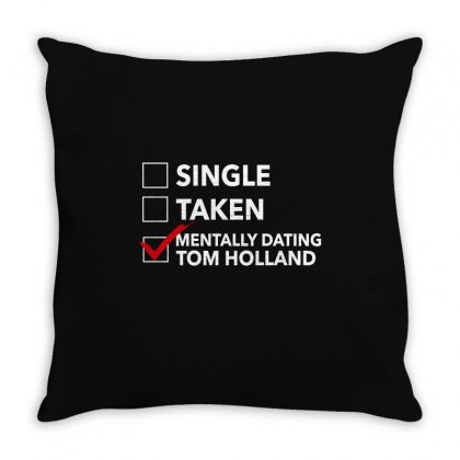 Tom Holland Dating Throw Pillow Designed By Sengul