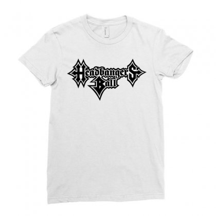 Tv Headbangers Ball Ladies Fitted T-shirt Designed By Allstreet