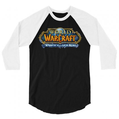 Wrath Of The Lich King Exclusive Item 3/4 Sleeve Shirt Designed By Allstreet
