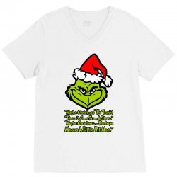 maybe christmas grinch V-Neck Tee | Artistshot