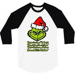 maybe christmas grinch 3/4 Sleeve Shirt | Artistshot