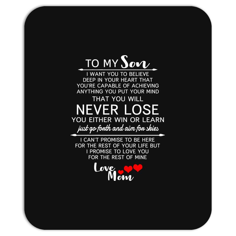 Custom To My Son From Mom Gifts Mousepad By Killakam Artistshot