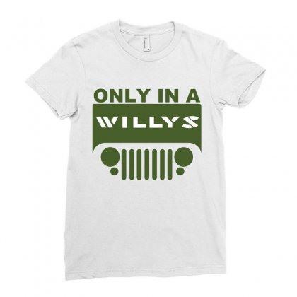 Jeep Willys Ladies Fitted T-shirt Designed By Ewanhunt