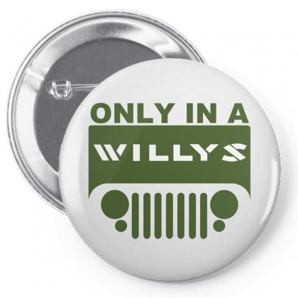 Jeep Willys Pin-back Button Designed By Ewanhunt