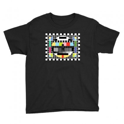 Tv Pattern Youth Tee Designed By Ewanhunt