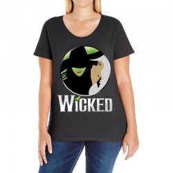 broadway musical wicked Ladies Curvy T-Shirt | Artistshot