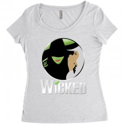 broadway musical wicked Women's Triblend Scoop T-shirt | Artistshot