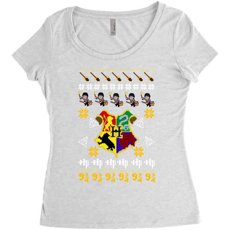 Harry Potter Christmas Shirt.Harry Potter Christmas Ugly Women S Triblend Scoop T Shirt By Artistshot