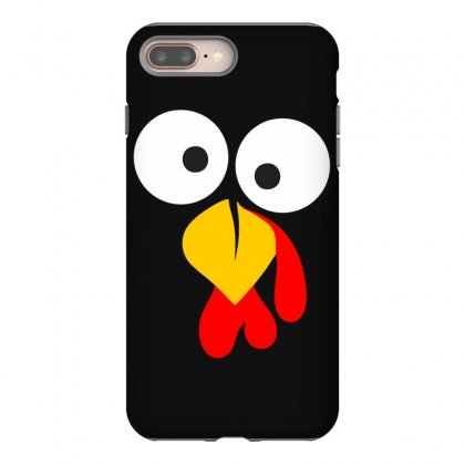 Turkey Face Funny Thanksgiving Iphone 8 Plus Case Designed By Meza Design