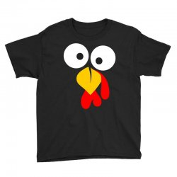 turkey face funny thanksgiving Youth Tee | Artistshot