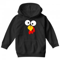turkey face funny thanksgiving Youth Hoodie | Artistshot
