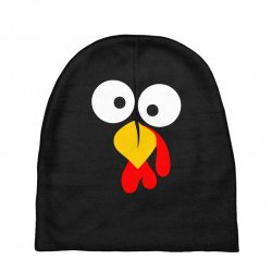 turkey face funny thanksgiving Baby Beanies | Artistshot