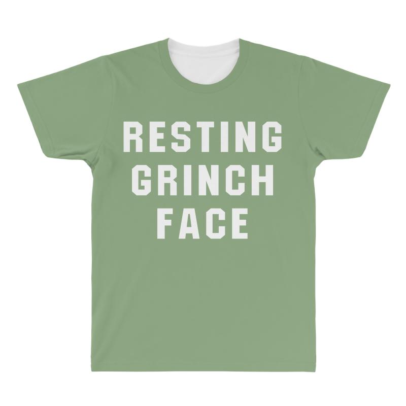 a0d6d8b8329 Custom Resting Grinch Face For Dark All Over Men s T-shirt By Akin ...