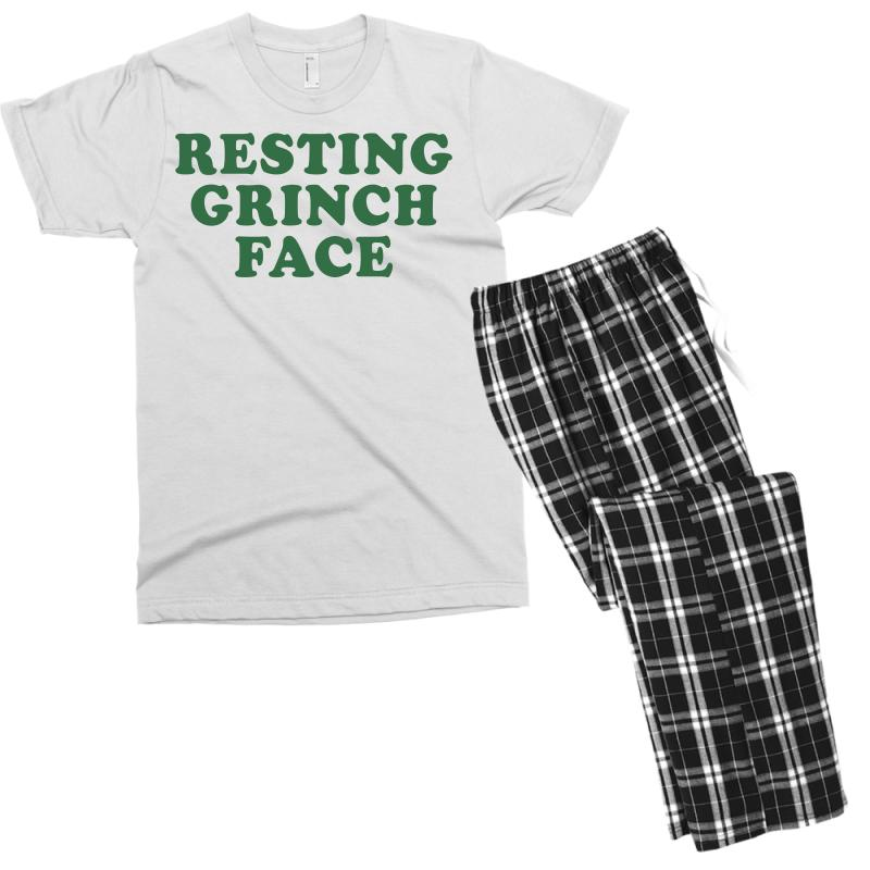8c5d50b2eed Custom Resting Grinch Face For Light Men s T-shirt Pajama Set By ...