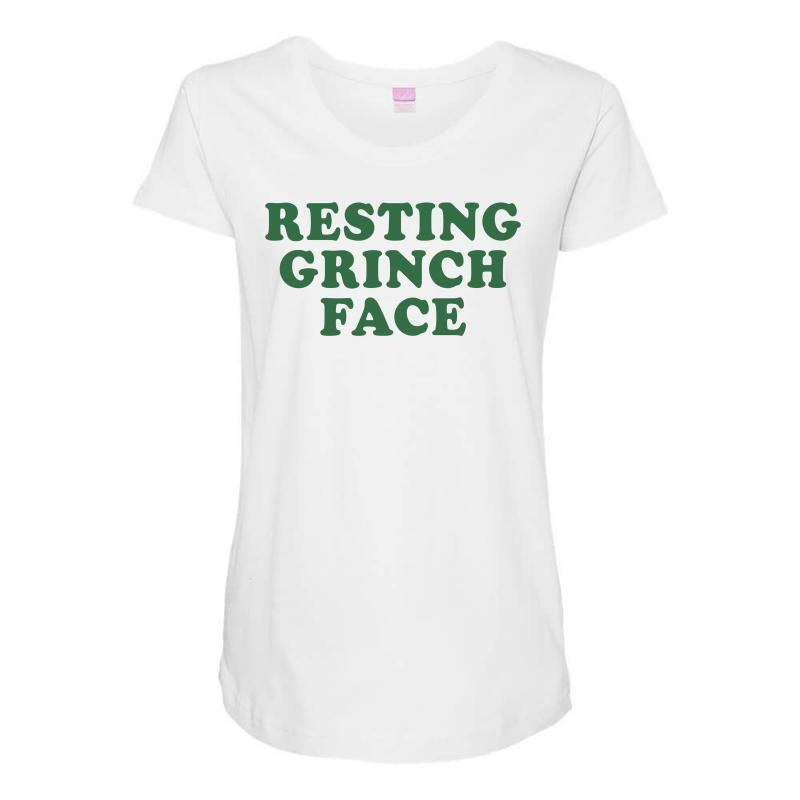 ecea498d2e8 Custom Resting Grinch Face For Light Maternity Scoop Neck T-shirt By ...