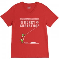 merry christmas grinch ugly sweater for red V-Neck Tee | Artistshot