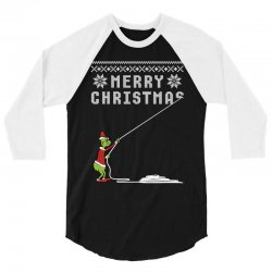 merry christmas grinch ugly sweater for red 3/4 Sleeve Shirt | Artistshot