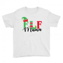 elf mama christmas family matching black Youth Tee | Artistshot