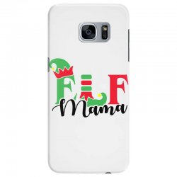 elf mama christmas family matching black Samsung Galaxy S7 Edge Case | Artistshot