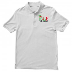 elf mama christmas family matching black Polo Shirt | Artistshot
