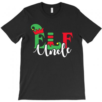 Elf Uncle Christmas Family Matching T-shirt Designed By Akin
