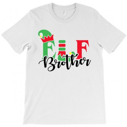 Elf Brother Christmas Family Matching Black T-shirt Designed By Akin