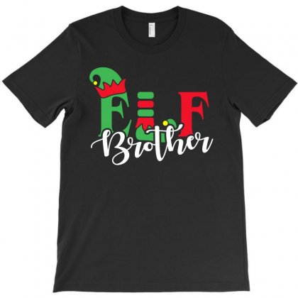 Elf Brother Christmas Family Matching T-shirt Designed By Akin