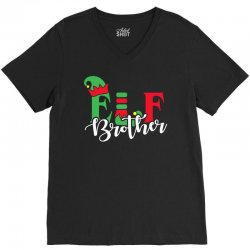 elf brother christmas family matching V-Neck Tee | Artistshot