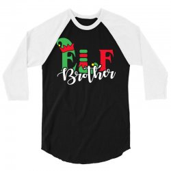 elf brother christmas family matching 3/4 Sleeve Shirt | Artistshot