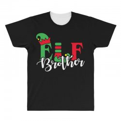 elf brother christmas family matching All Over Men's T-shirt   Artistshot