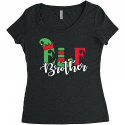 elf brother christmas family matching Women's Triblend Scoop T-shirt   Artistshot